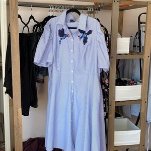 Embroidered Shirt Dress City Chic Size L / 20.